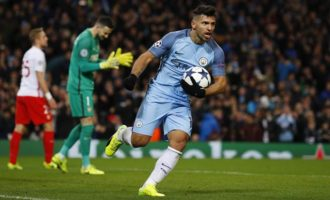 Sergio Aguero scores twice, takes Manchester City into FA Cup quarters