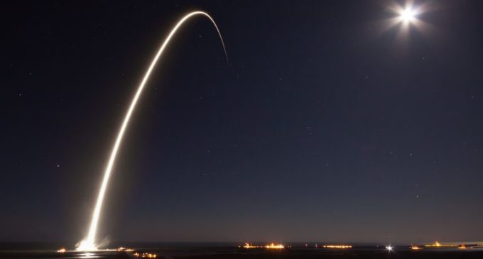 TV broadcast satellite launched aboard Falcon 9 rocket